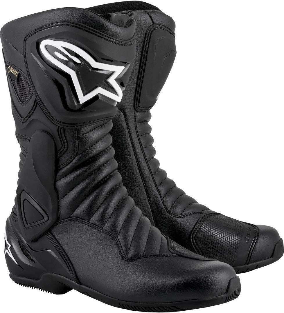 Alpinestars Mens SMX-6 V2 Gore-Tex Street Motorcycle Boot, Black/Black, 44