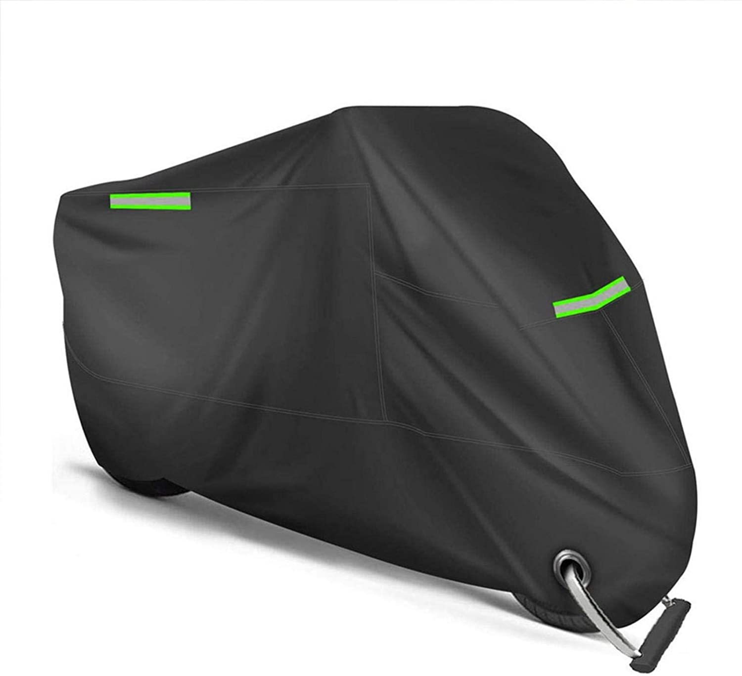 """Motorcycle Cover All Season Universal Weather Premium Quality Waterproof Sun Outdoor Protection Durable Night Reflective with Lock-Holes & Storage Bag Fits up to 96.5"""" Motorcycles Vehicle Cover"""