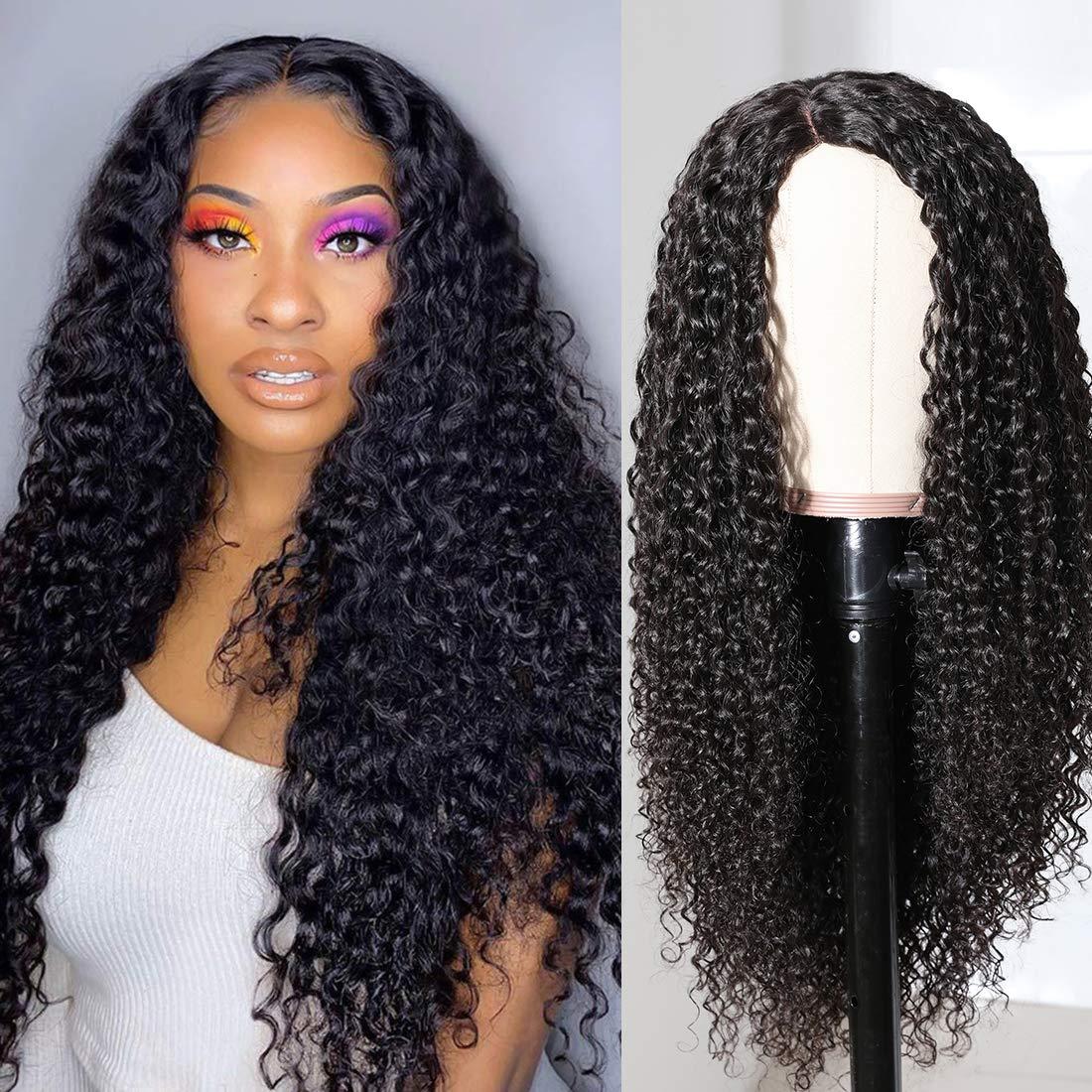 Nadula Brazilian Curly Wig Fake Scalp Premade Human Hair Wigs 10A Pu Silk Base Wig Go and Wear Wigs for Women 150% Density No tangle No Shedding (24inch)
