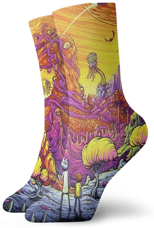 Ri-Ck N Morty Socks, 3d Print Socks Football Compressed Socks Non-Slip Sport Socks For Running