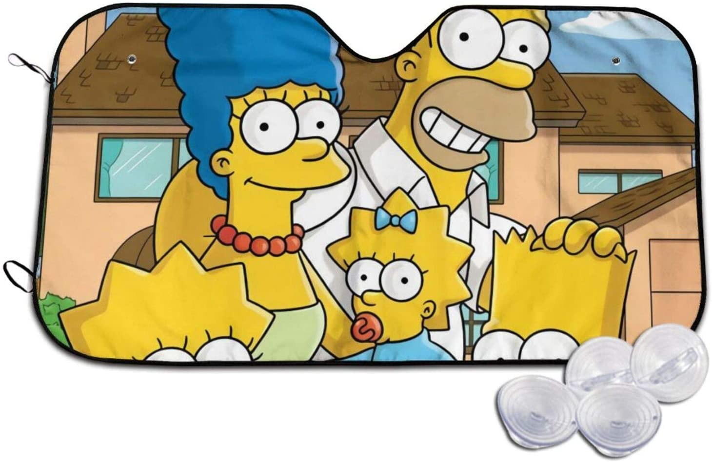 NBNBN Bart Simpson Sunshade Car Truck SUV Foldable Front Windshield Sunshade Keeps Out UV Rays Fits Keep The Vehicle Cool Small