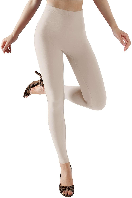 ODODOS Women's Camel Toe Free Fashion Leggings, Brushed Buttery Soft Slim Leggings +Plus Size