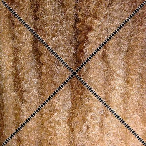 Dreadlock Foundation Fiber for Braids, Twists and Dreadlock Hair Extensions - Chestnut/Caramel/Platinum Blonde Tips