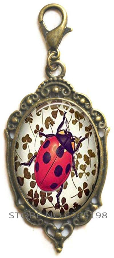 Ladybird Gift for Women, Ladybug Zipper Pull,Ladybird Charm, Personalized Zipper Pull, Woman Jewelry,Realistic Ladybug Charm Zipper Pull,N148