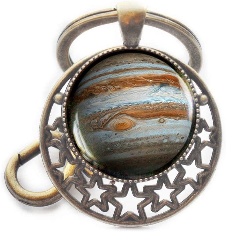 Jupiter Key Ring, Jupiter Keychain, Jupiter Jewelry, Galaxy Universe Space Planet Keychain,M67