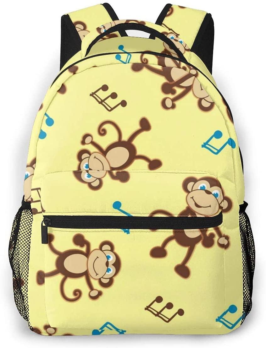 Laptop Backpack Casual Backpack Daypacks Computer Business Backpacks Travel Backpacks Bag Hiking Daypack College School Bookbag Work Bag Cartoon Music Chimpanzee Dancing Monkey
