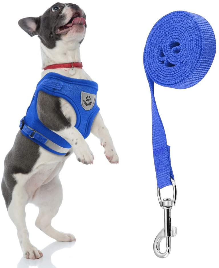 Lamoutor Cat Harness and Leash with Soft Mesh Vest Adjustable Cat Vest Harness with Reflective Strap