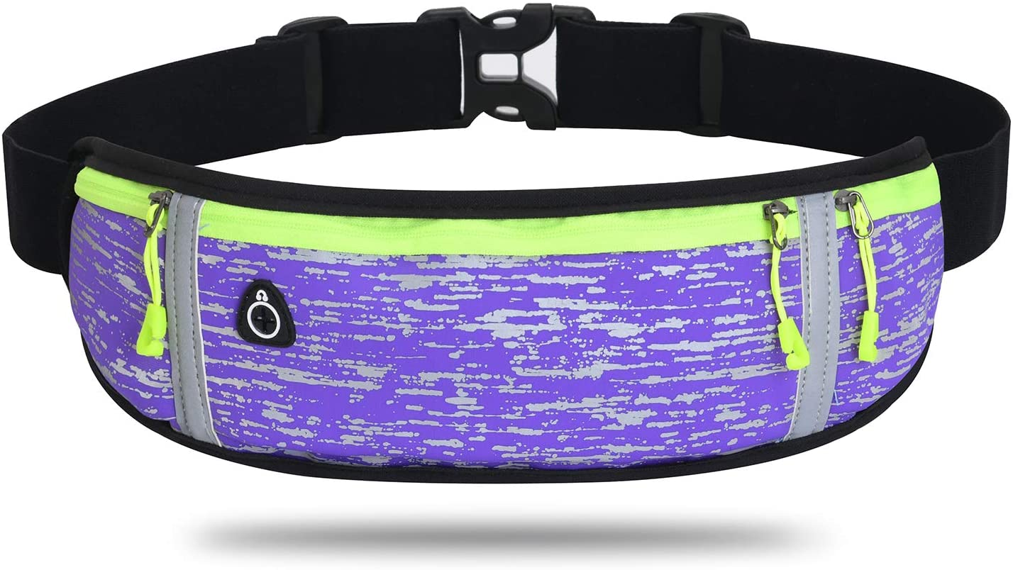 sunhiker Waist Bag, Sports Water Resistant Waist Pack, Running Belt Bag Pouch Fanny Pack for Hiking Running Cycling Camping Climbing Travelling