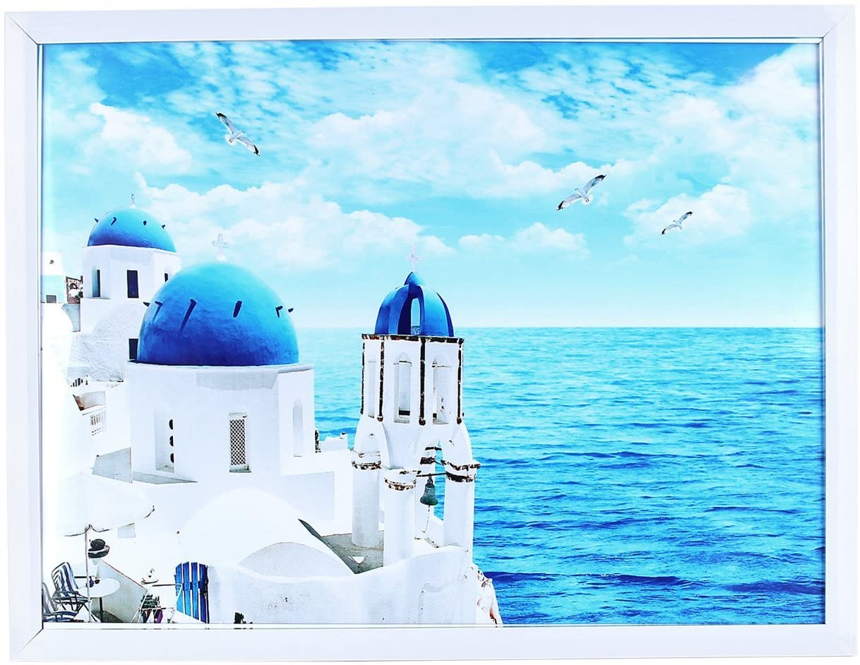 for picture 11.81x15.75 white Photo Frame 12x16 without Mat Display Photographs Safety high transparent PC sheet instead of glass pin-hook not included (PFVC 16 WT)
