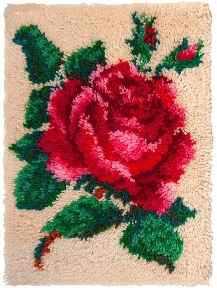 DMDMJY DIY Latch Hook Kits Crocheting Embroidery Throw Pillow Needlework Cross Stitch Kits Craft Gifts Home Decoration 20 X 15