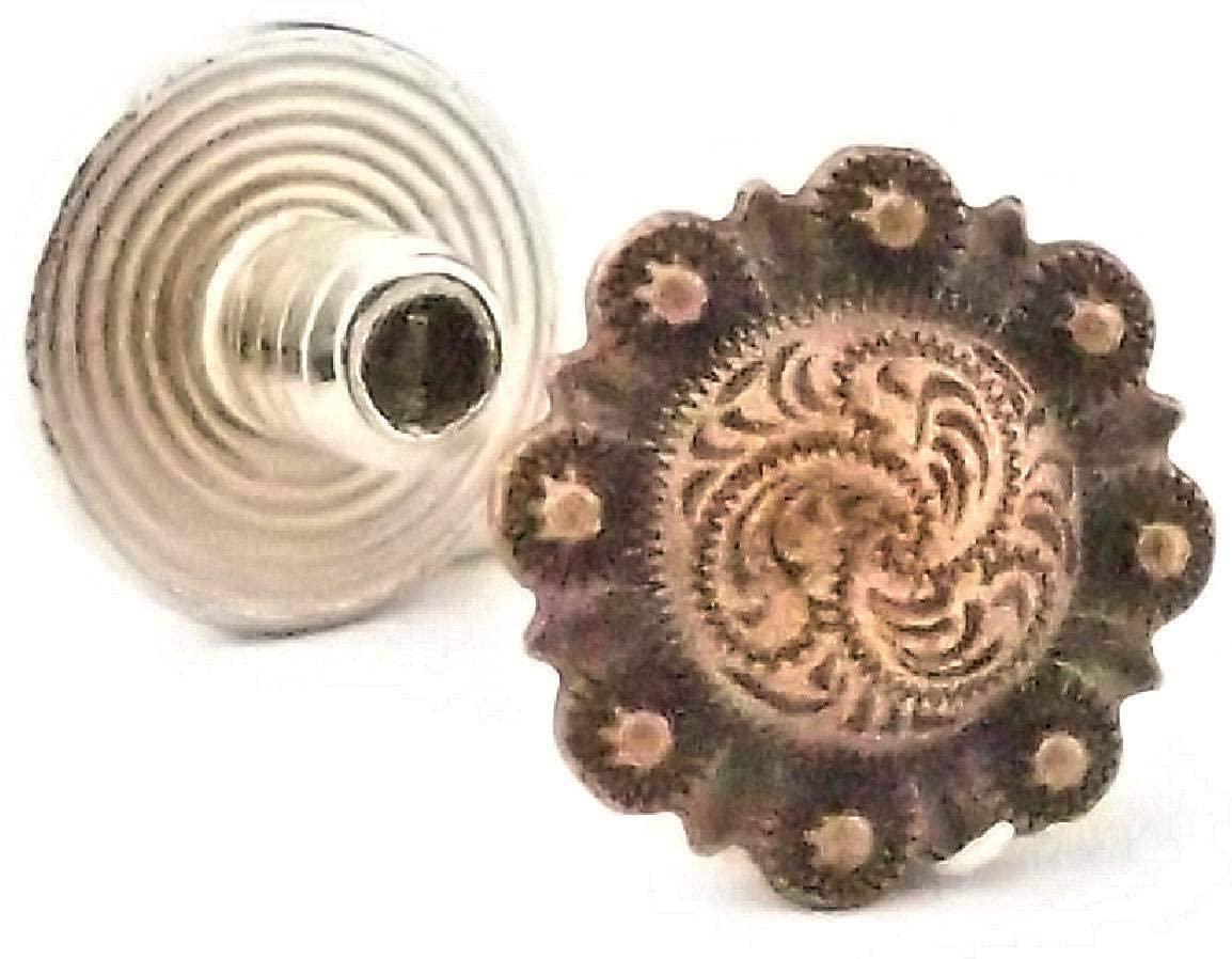 Conchos for Belt - Leather Fastener - Chicago Screws Concho Antique Copper 3/16
