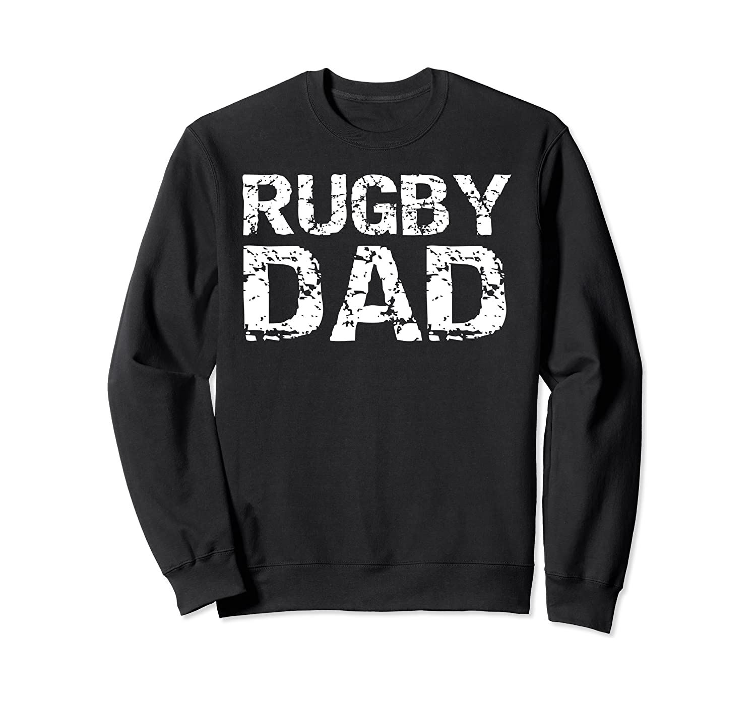 Distressed Rugby Father Gift for Dads Vintage Rugby Dad Sweatshirt