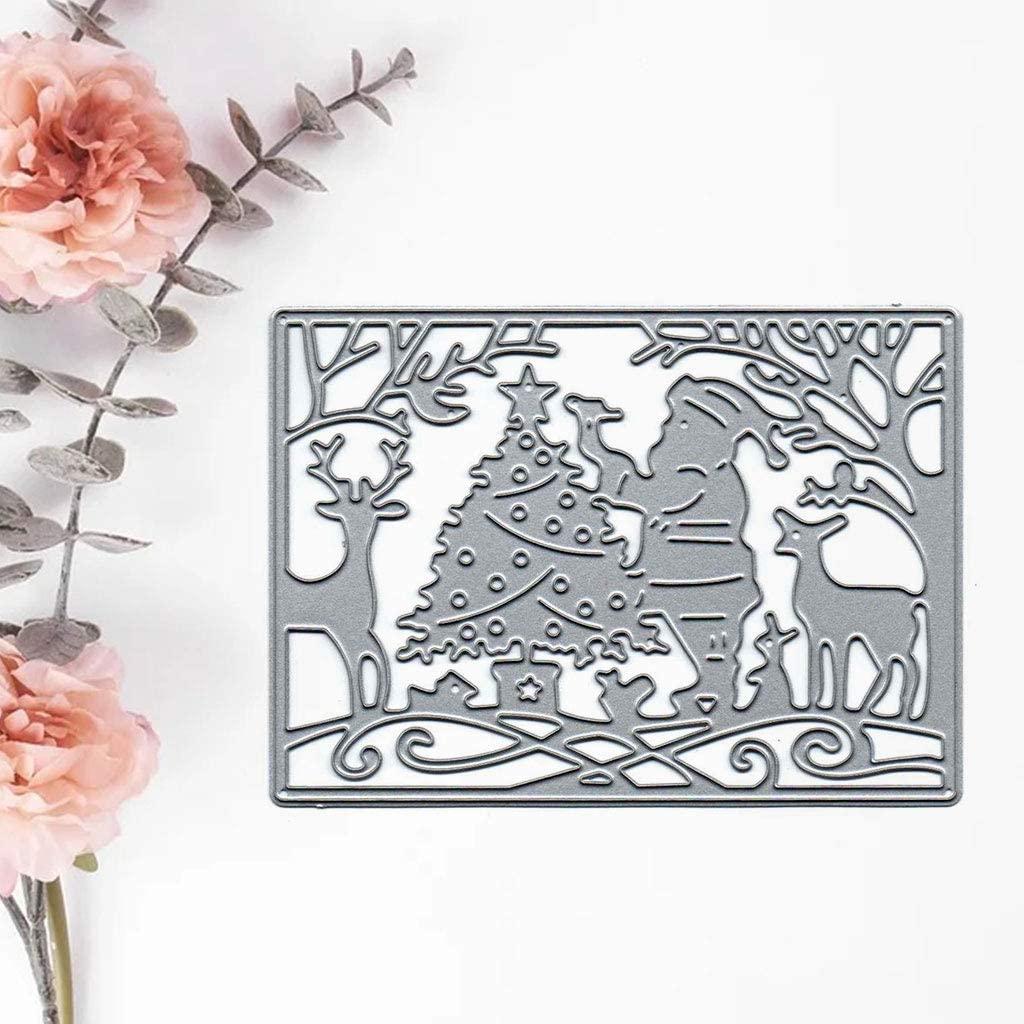YU-NIYUT Carton Christmas Element Carbon Steel Cutting Dies Stencil Tools for DIY Scrapbooking Photo Album Decorative Embossing Paper Scrapbooking Card Making