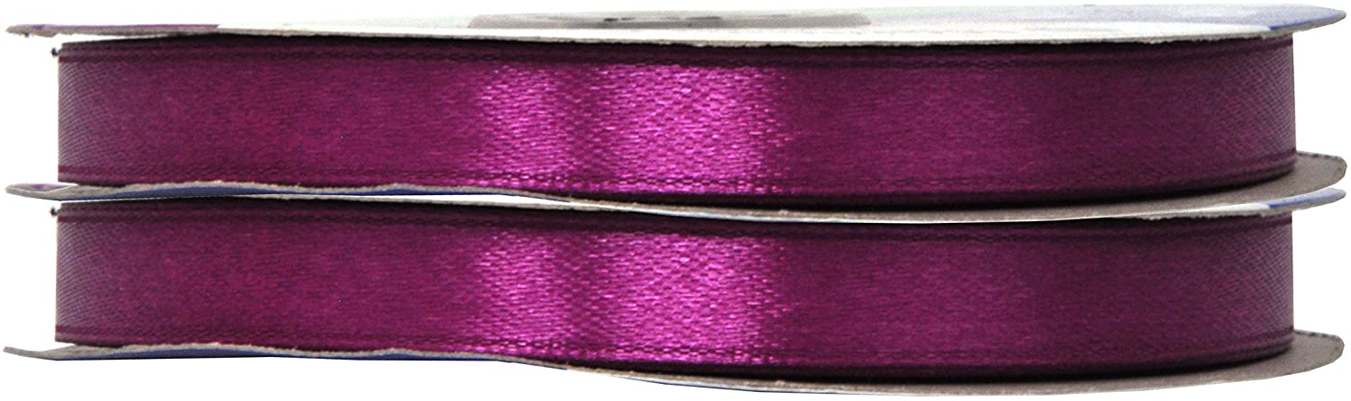 Purple Satin Ribbon 3/8 Inch 100 Yards for Gift Wrapping, Weddings, Hair, Dresses, Blanket Edging, Crafts, Bows, Ornaments; by Mandala Crafts