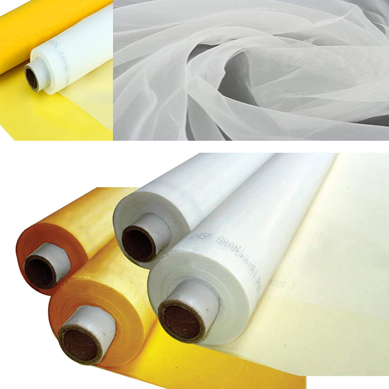 Silk Screen Printing Fabric Mesh 3 Yards 1.27 Meters Screen Printing Mesh Wide High Tension Mesh Making Ink Supplies(110 Mesh(43T))