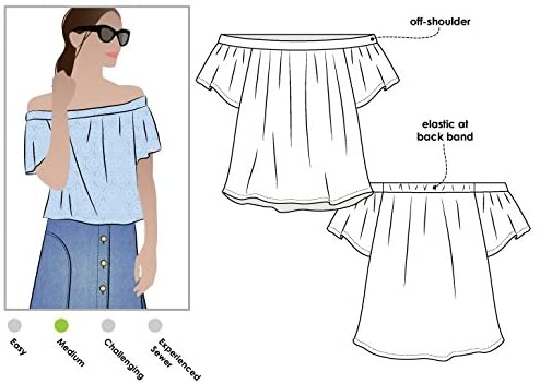 Style Arc Sewing Pattern - Cara Top (Sizes 18-30) - Click for Other Sizes Available