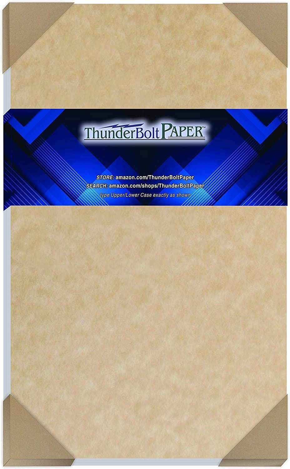 50 Light Brown Parchment 60# Text (=24# Bond) Paper Sheets - 8.5 X 14 Inches Standard Legal Size - 60 Pound is Not Card Weight - Vintage Colored Old Parchment Semblance