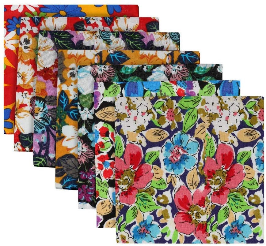 7pcs Craft Cotton Fabric,face Cover Material Bundle Patchwork Squares Quilting Sewing Material (G)