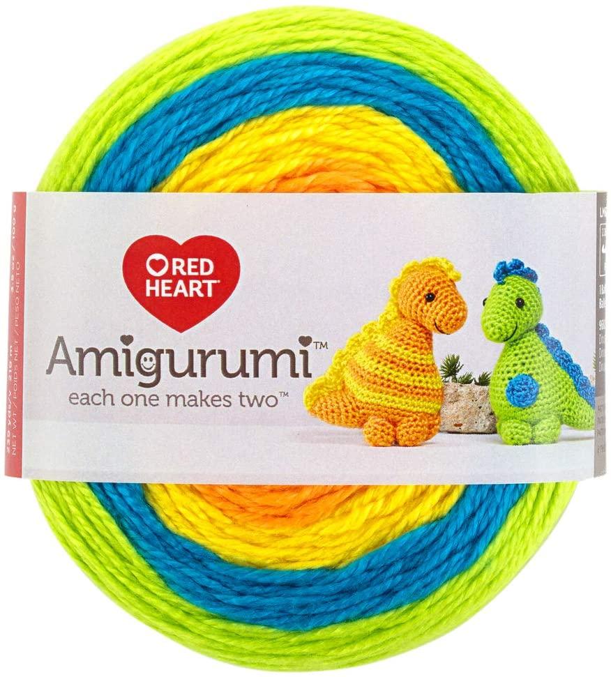 RED HEART E885. 9682 Amigurumi Yarn, Dinosaur