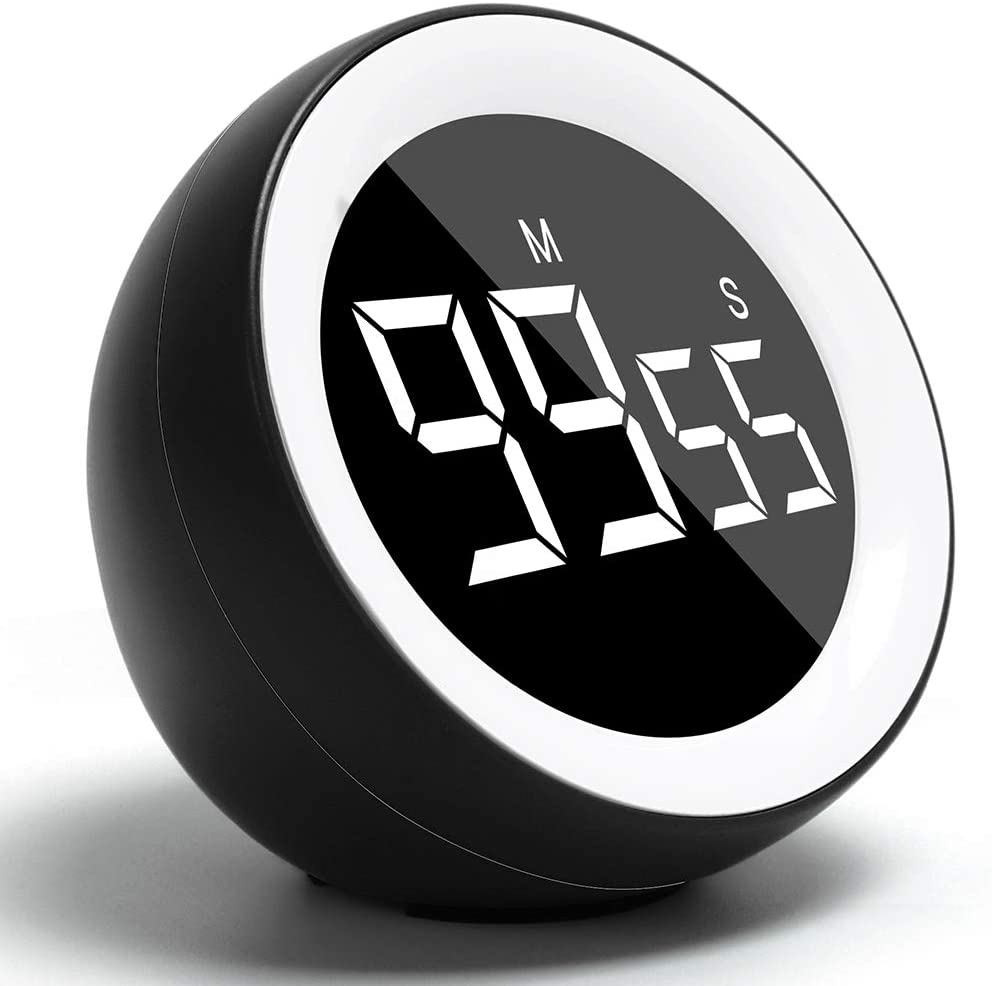 FWIEXA Digital Kitchen Timer, Count up or Countdown LED Timer for Cooking Fitness Meeting, Kids Timer for Homework Game (99 Minutes and 55 Seconds)