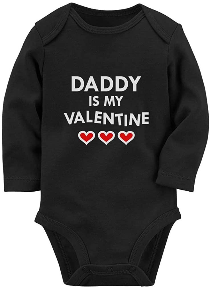 Tstars Daddy is My Valentine Infant Baby Long Sleeve Bodysuit
