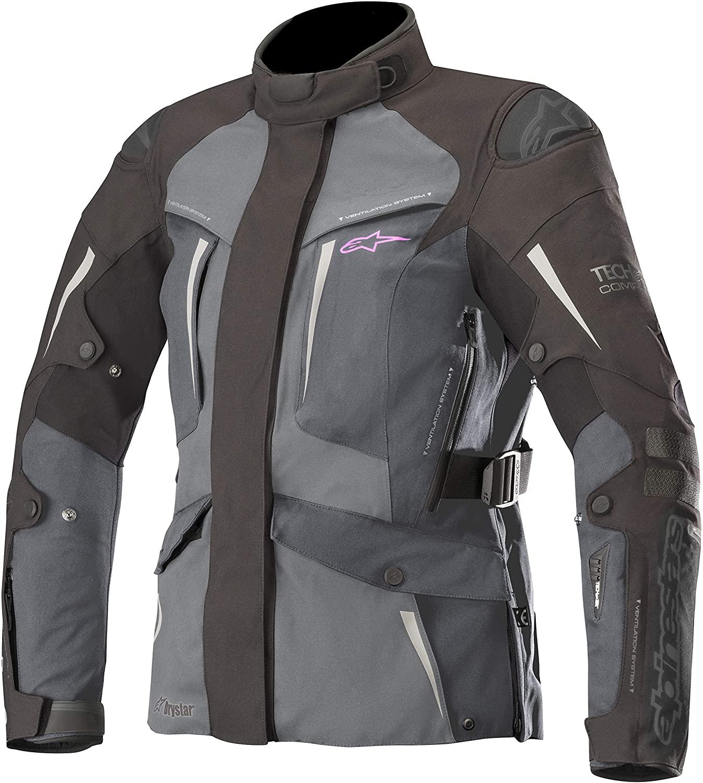 Stella Yaguara Women's Drystar Waterproof All-Weather Motorcycle Jacket for Tech-Air Street Airbag System (Medium, Black Dark Gray Mid Gray)