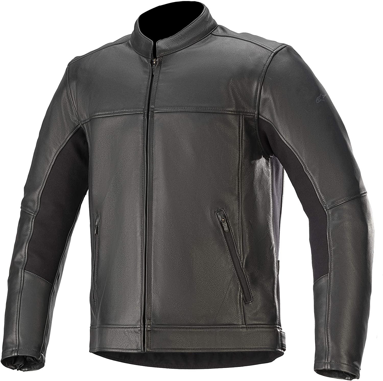 Alpinestars Men's Topanga Leather Motorcycle Jacket, Black, Medium