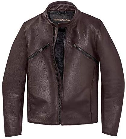 Dainese Settantadue Prima72 Leather Motorcycle Jacket Dark Brown Size 52 Euro / 42 Us