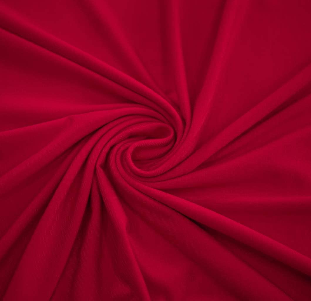 "UNOMEGA 58"" Rayon Spandex Jersey Knit Fabric Oeko-Tex Dye by The Yard - 1 Yard (RED)"