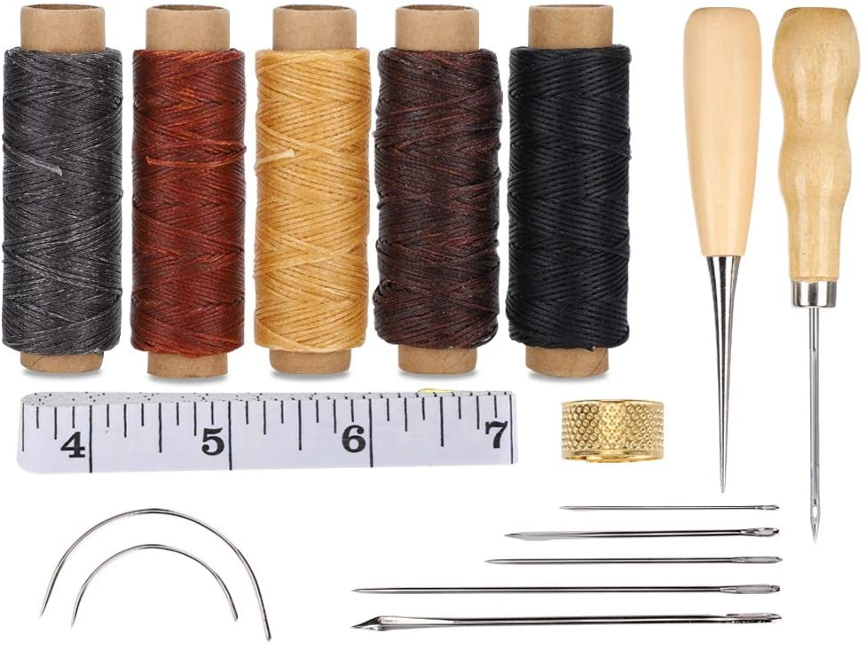 5 Rolls of Leather Wax Thread Sewing Accessory, Leather Sewing Tool, for Sewing Leather Household