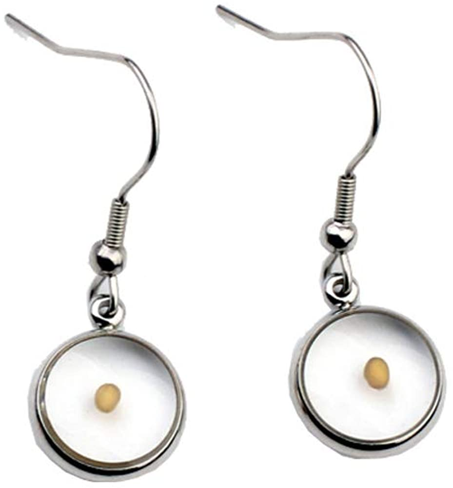 Dainty Mustard Seed Pendant Necklace Mustard Seed Earring for Women Girls