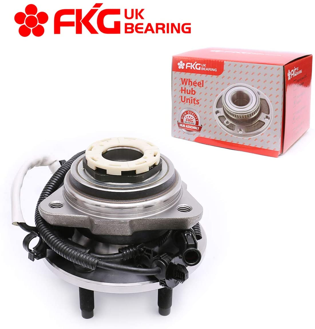 FKG 515027 (4WD Only) Front Wheel Bearing Hub Assembly fit for 1998-1999 Ford Ranger, 1998-1999 Mazda B4000, 2000 Ford Ranger Mazda B4000 (w/Pulse Vacuum Hub Locks & 4-Wheel ABS models)