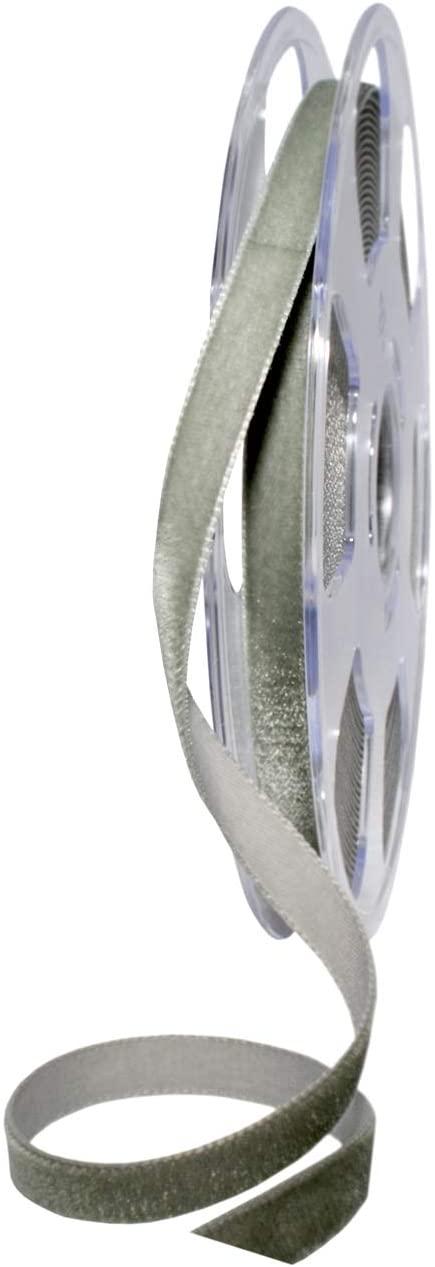 Morex Ribbon Nylvalour Ribbon, Grey