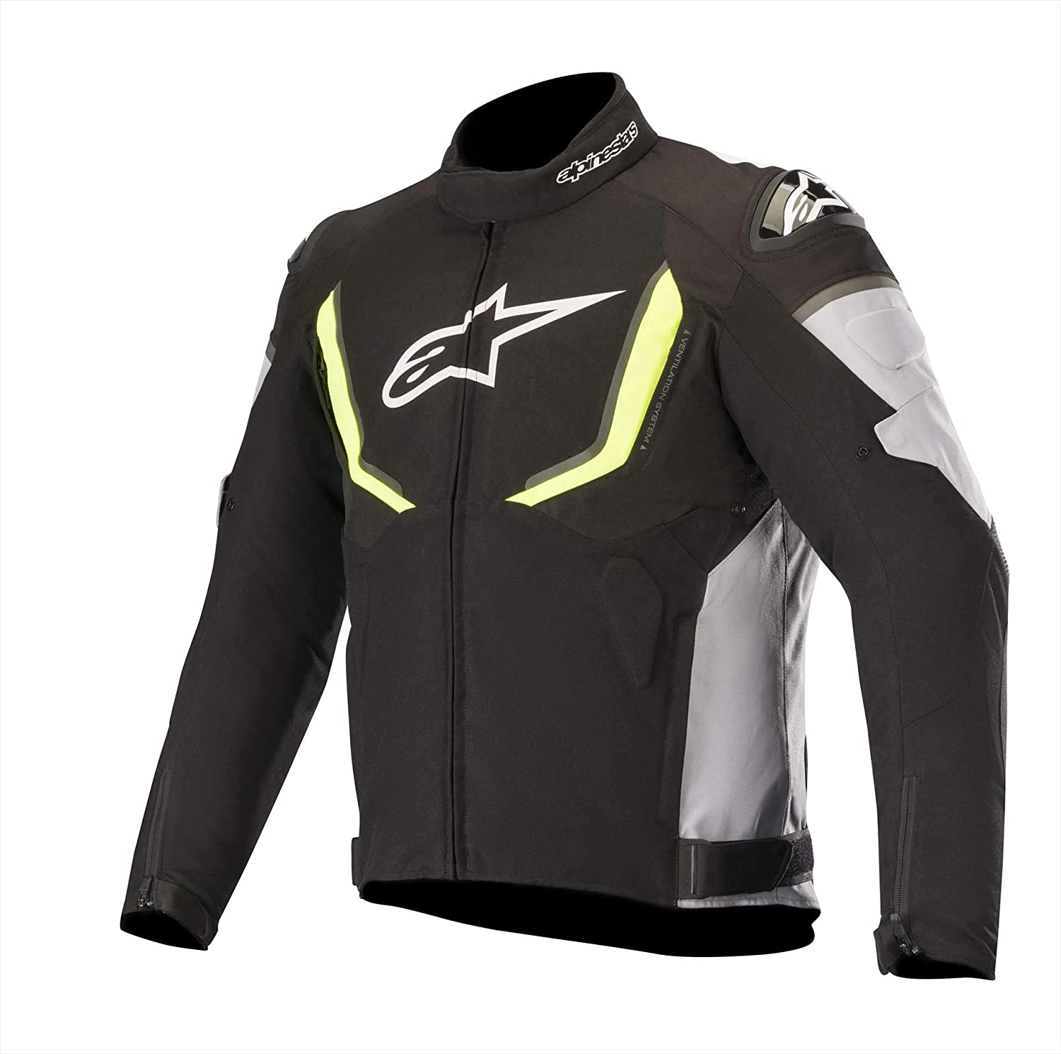 Alpinestars T-GP R V2 Waterproof Street Jacket-Black/Gray/Yellow Fluo-2XL