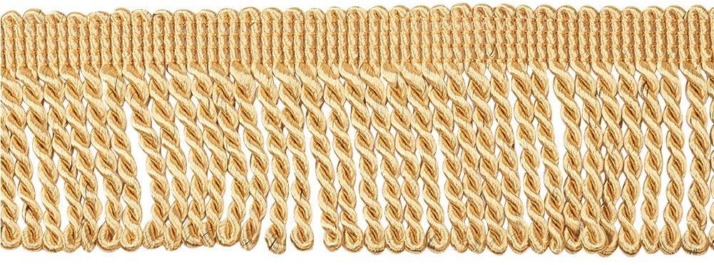 WANDIC Fringe Trim, 13 M Long Polyester Bullion Fringe Trim for Curtain, Sofa, Crafts