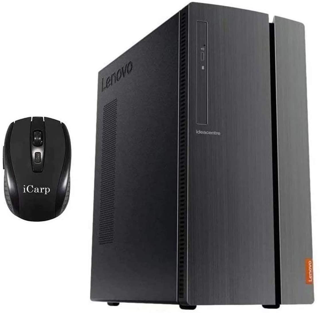 2020 Newest Lenovo IdeaCentre 510A Desktop Computer, AMD Quad-Core Ryzen 5 3400G (Beats i7-7700HQ), 32GB DDR4 512GB SSD, USB 3.0 DVD HDMI WiFi Wired Keyboard and Mouse Win 10 + iCarp Wireless Mouse