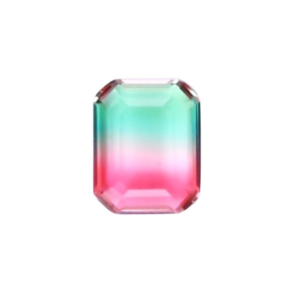 DERCLIVE Rectangle Bi-color 10x8mm Watermelon Tourmaline Gemstone DIY Jewelry Accessories Used for jewelry making, home decor, art craft
