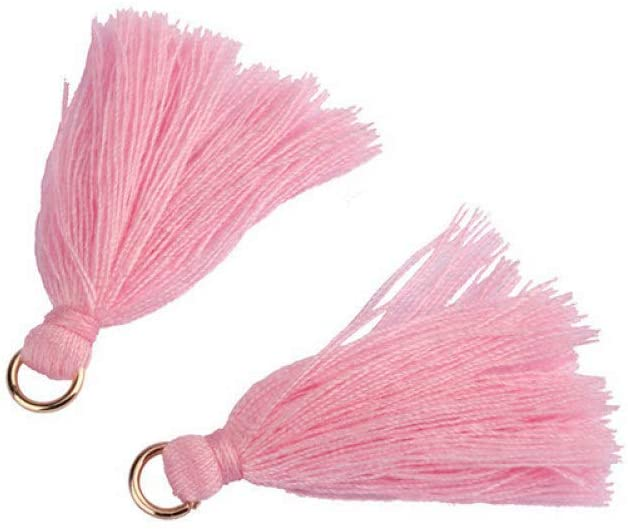 50-200Pcs Multi-Colors Mini Tassels DIY Hanging Ring Cords Trim for Earring Jewelry Making Curtains Decoration