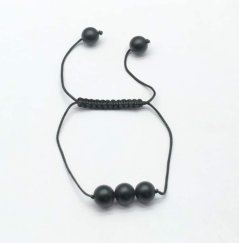 Man's Bracelet Healing Real Gemstones Matte Black Lava Beaded Bracelet Energy Jewelry Protection Bracelets Macrame Bead Bracelet 10mm