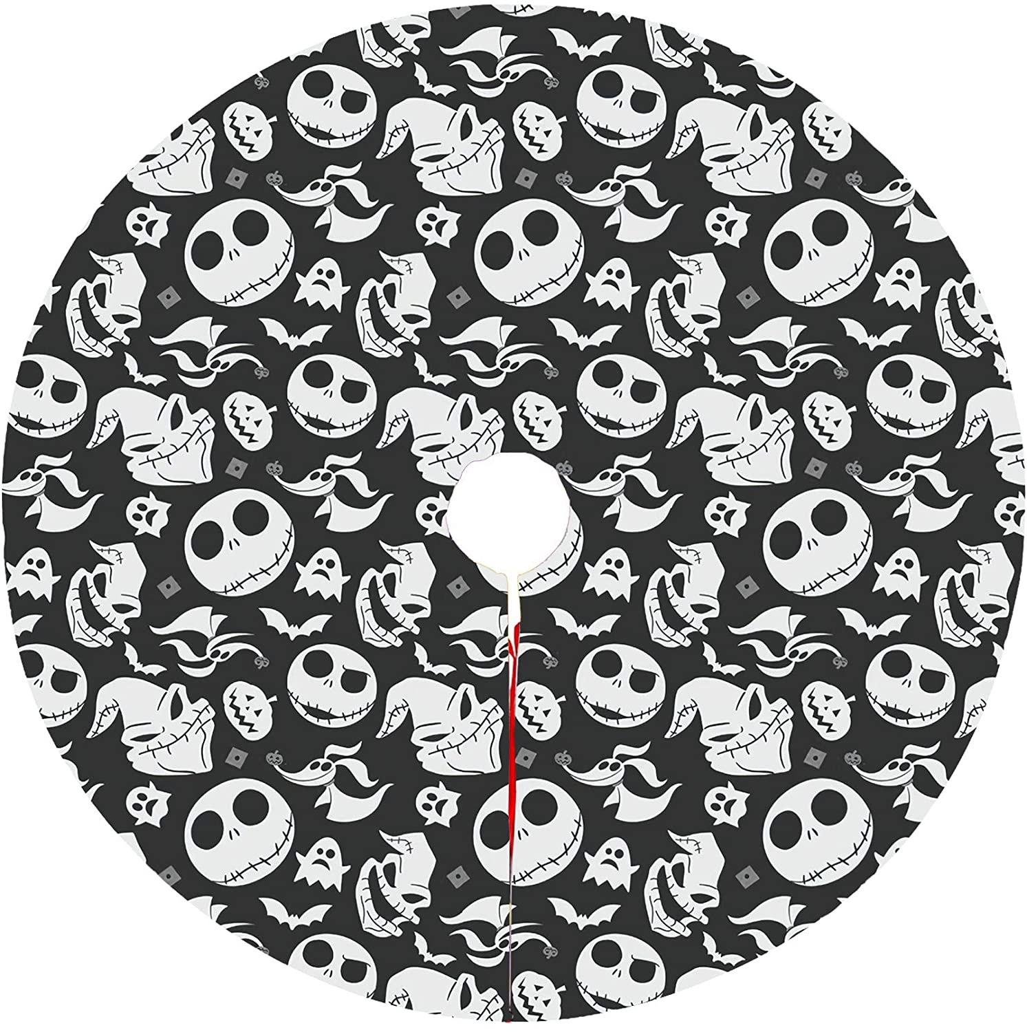 The Nightmare Before Christmas Christmas Tree Skirt Kits Mat Decorations Large Trees Group Soft And Light Easy To Put In Home Office Livingroom For Xmas Halloween Holiday Party Decoration 36in