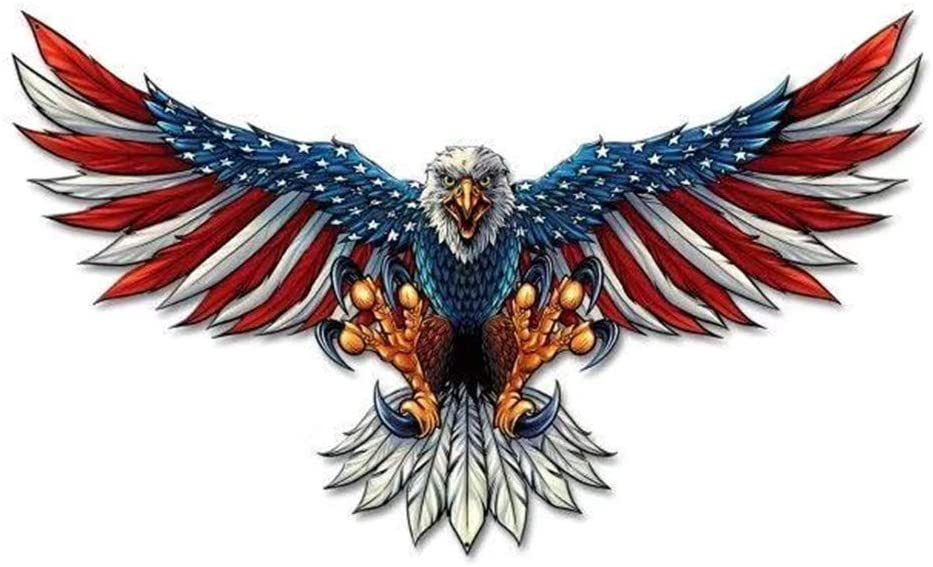 5D DIY Diamond Painting Kits for Kids and Beginner Round Full Drill Embroidery Paintings Rhinestone Pasted Diamond Art for Home Wall Decor Gift 11.8×11.8Inches(Eagle USA Flag)