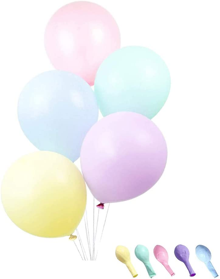 Party Balloons 100pcs Assorted Colourful Rainbow Latex Balloon with Gift of Happy Birthday for Festival Christmas Arch Garland