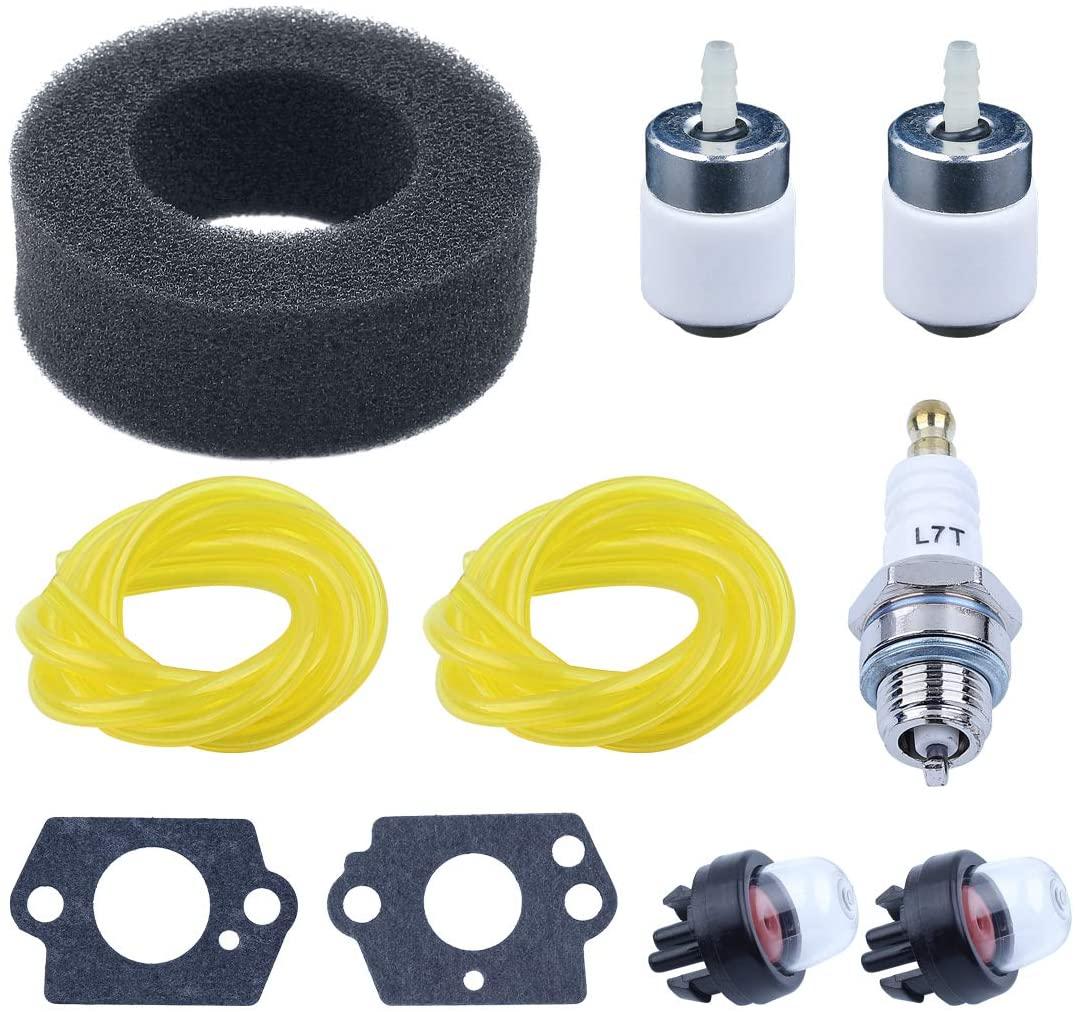 Haishine 791-682039 791-181086 Air Filter Fuel Line Tune-Up Kit for Ryobi Blower 280 280r 310BVR RGBV3100 410r Tiller Cultivator Trimmer Brushcutter