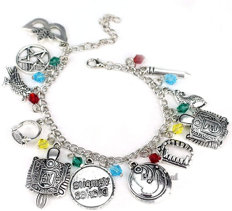 Blingsoul Vampires Charm Diaries Bracelet - Halloween Jewelry