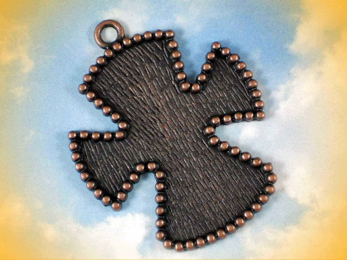 1 Maltese Cross Bezel Large Blank Setting Pendant Copper Tone Embed Beads Adorable Charms and More for Your own Designs by CharmingStuffS