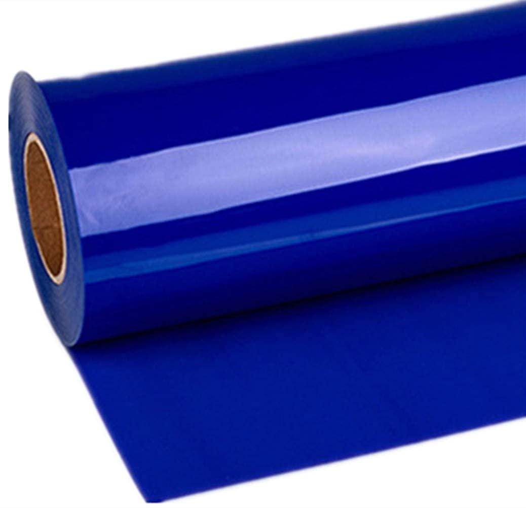 Emoyi DIY Sheets Stretchable Heat Transfer Vinyl Bundle for T-Shirts Clothing 12x60 (Dark Blue)