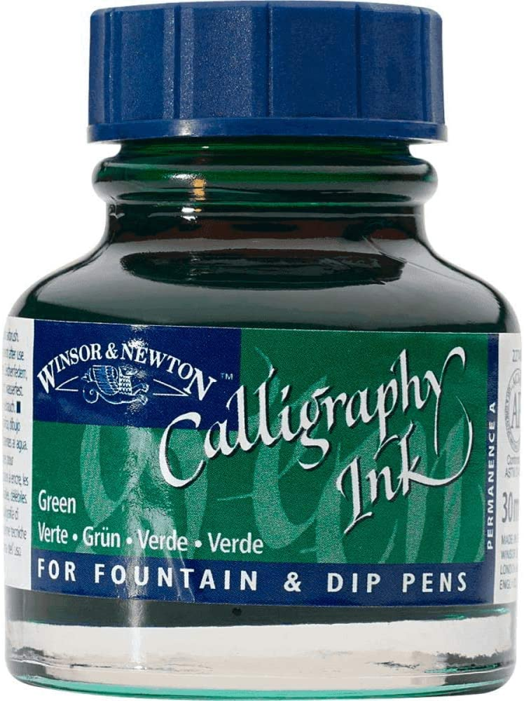 Winsor & Newton Calligraphy Ink Bottle, 30ml, Green
