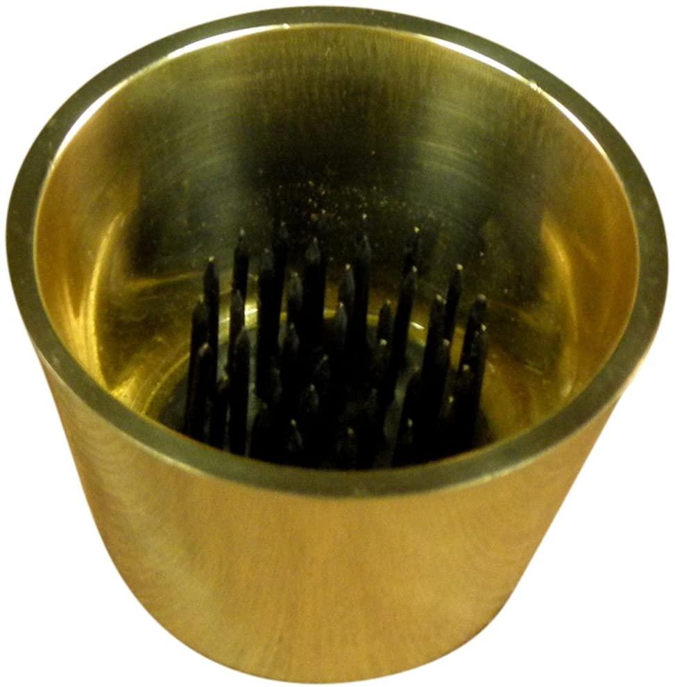 JWL HAWNKOA PRODUCTS (1) Solid Brass Water Holding Ikebana Flower Cup 2 3/8