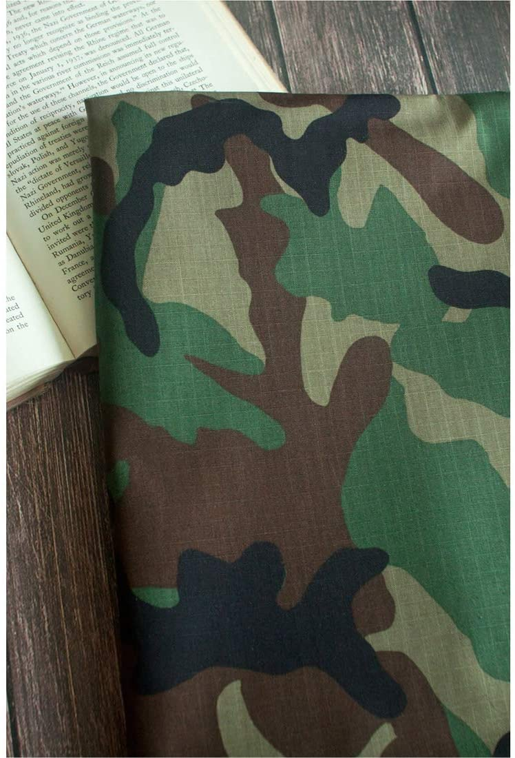 Nepure Camouflage Print Fabric Cotton Broad Cloth Camo by The Yard 60