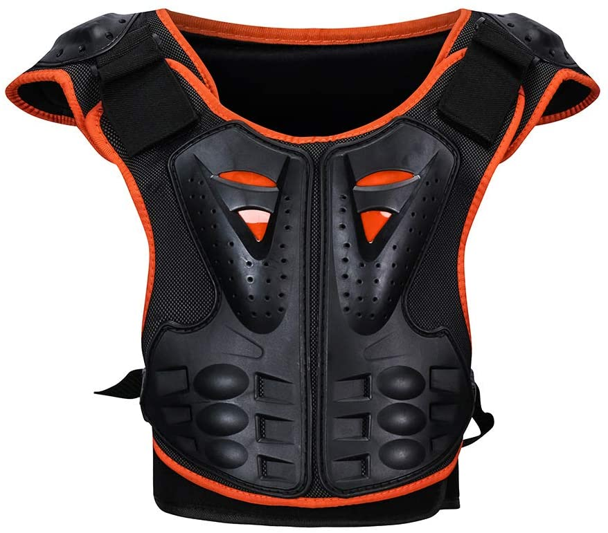 Children Bicycle Motorcycle Armor Armor Vest Back Protection Cycling Skiing Riding Skateboarding (L)